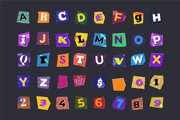 Stile di carta per la raccolta di lettere di riscatto