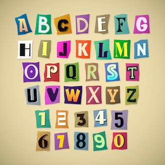 Ransom note letter pack paper style