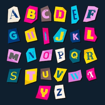 Ransom note letter set paper style