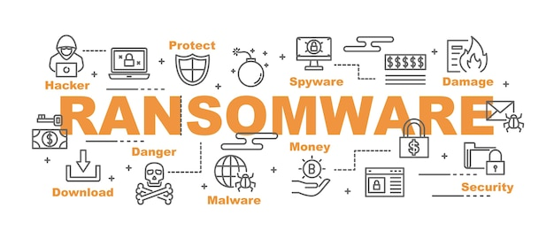 Ransomware vector banner
