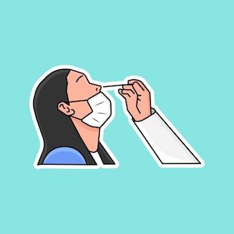Экспресс-тест на антиген плоский дизайн иллюстрация