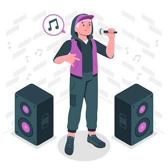 Rapper concept illustration