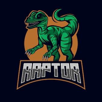 Raptor esport logo design template vector illustration