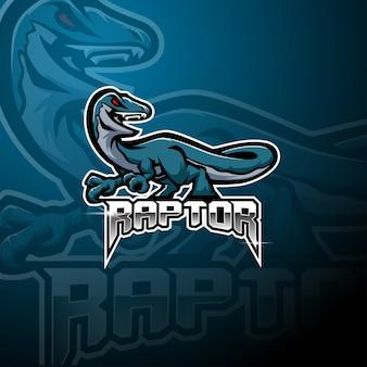 Raptor esport mascot logo