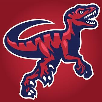 Raptor mascot Premium векторы