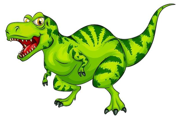 Raptorex dinosaur cartoon character on white background