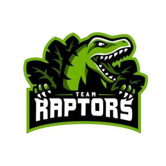 Raptors dinosaur logo esport gaming.