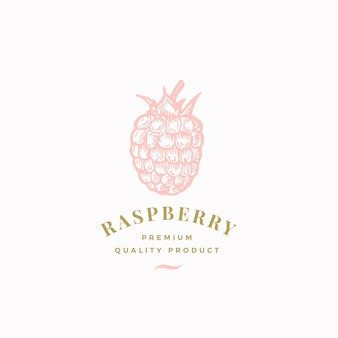 The raspberry abstract  sign, symbol or logo template.