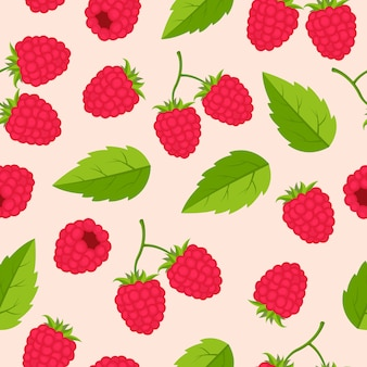 라즈베리 과일 원활한 패턴