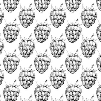 あなたのデザインのラズベリーのシームレスなパターン。図