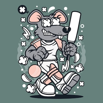 Rat cricket cartoon