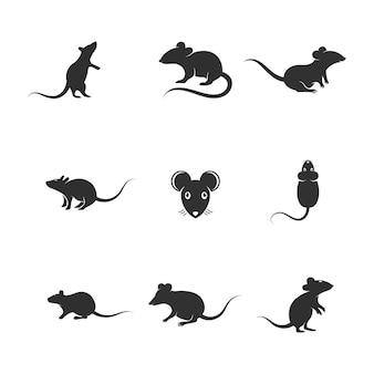 Крыса мило вектор значок дизайн иллюстрации шаблон
