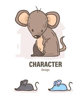 Rat doodle .rat illustration