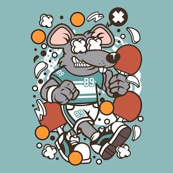Rat ping pong cartoon