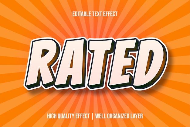 Rated white comic text стиль эффект