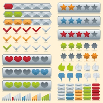 Rating icons set