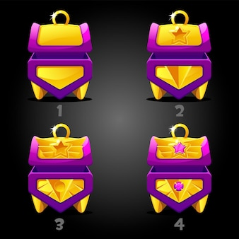 Rating purple treasure chests for the game.