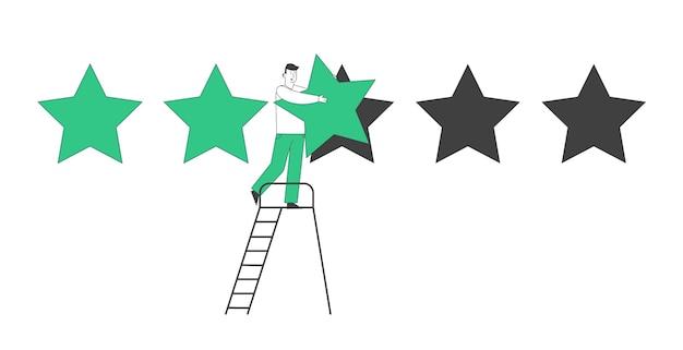 評価、品質、ビジネスランキングの概念