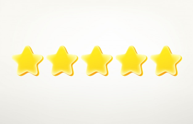 Rating stars clipart.