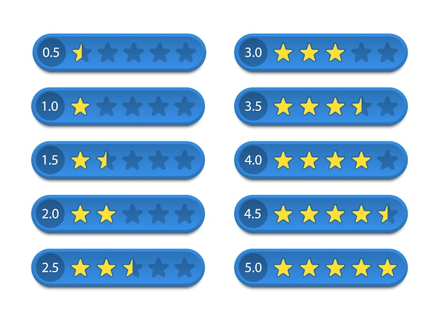 Rating stars. feedback and customer review.  illustration.