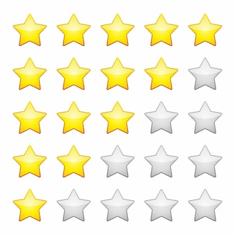 Rating stars isolated. design element vector illustration.