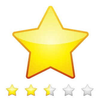 Rating stars isolated. design element vector illustration.