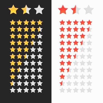 Rating stars isolated.