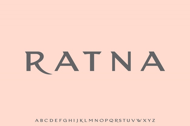Ratna, роскошный гламур и элегантный шрифт