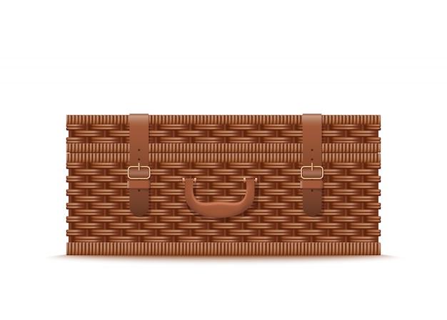 Rattan picnic case