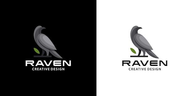 Логотип raven bird, современный, чистый, темный цвет