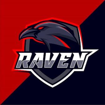 レイヴンeスポーツのロゴデザイン