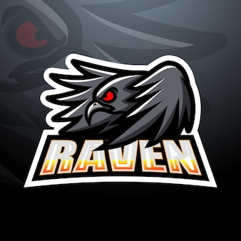 Raven esport mascot illustration