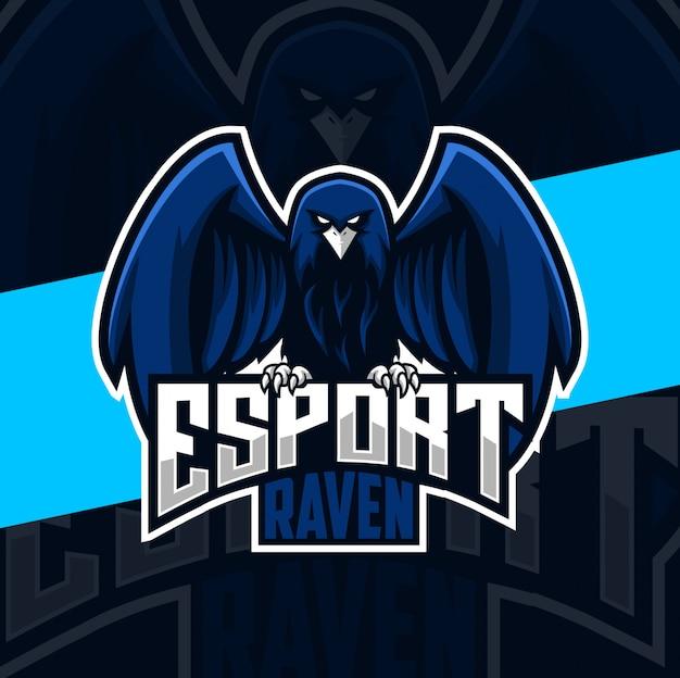 Raven mascot esport logo designs