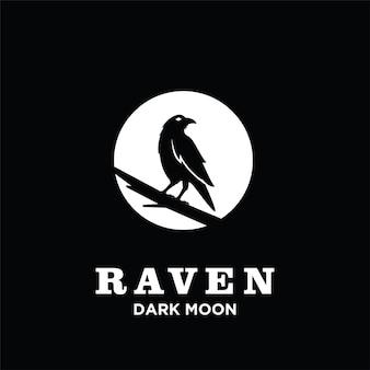 Ворон сосна логотип значок дизайн