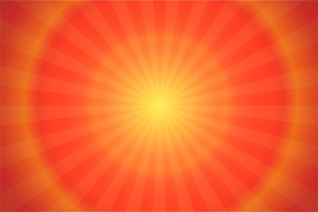 Ray and sunlight orange comic cartoon background.