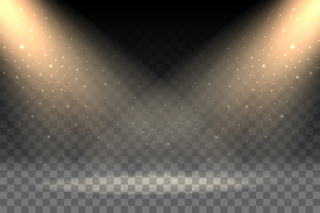 Rays on transparent background