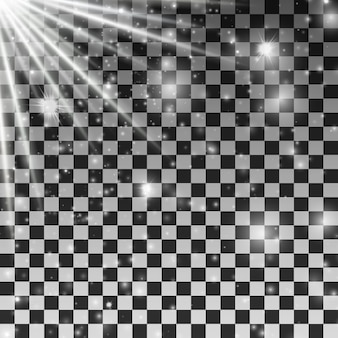 투명 배경에 별과 광선