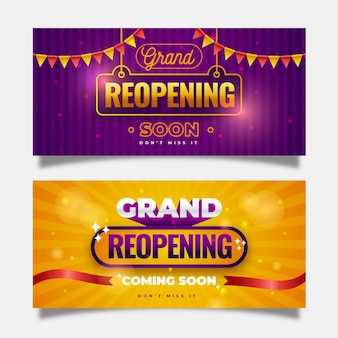 Re-opening banner template design