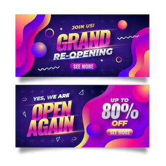 Re-opening banner template theme