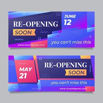 Повторное открытие магазинов скоро баннер