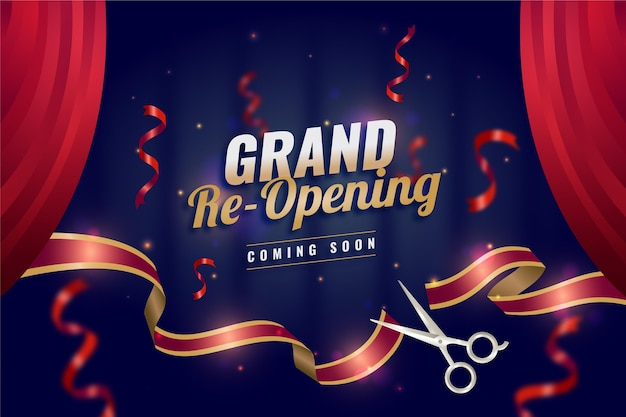 Re-opening soon background theme