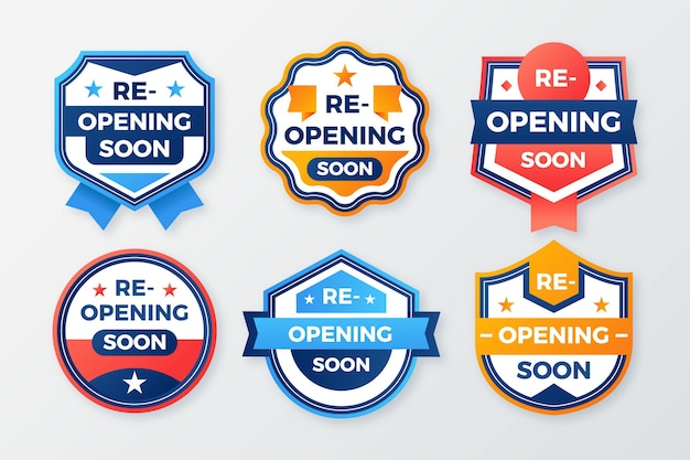 Re-opening soon badge concept