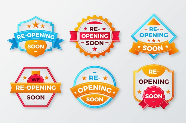 Re-opening soon badge pack