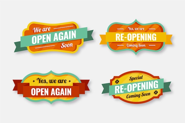 Re-opening soon badge set template
