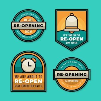 Re-opening soon badge set