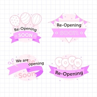 Re-opening soon badges pack
