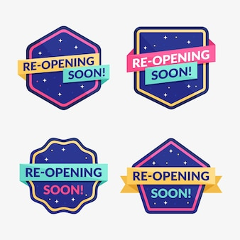 Re-opening soon badges