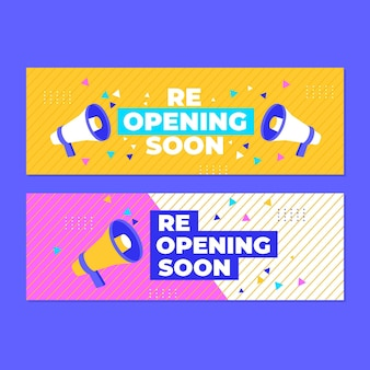 Re-opening soon banner concept