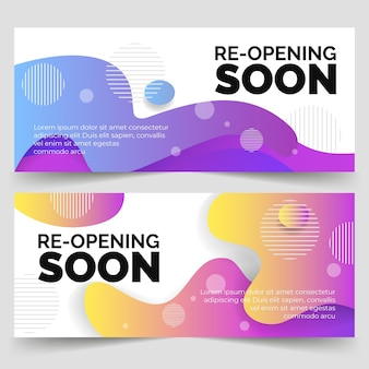 Re-opening soon banner design
