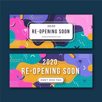 Re-opening soon banner style